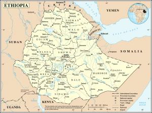מפת אתיופיה