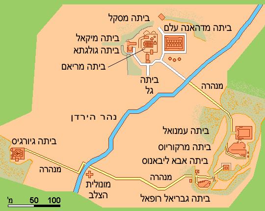 מפת ללילבלה בעברית