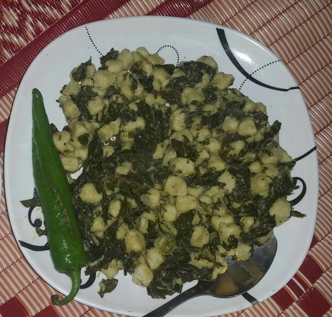 המאכל המקומי Kurkuba