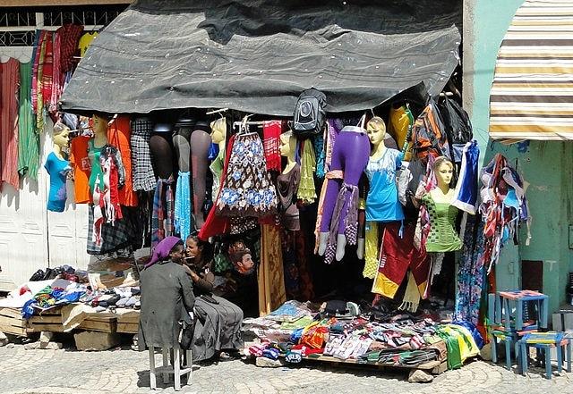 חנות בגדים בעיר מקלה - Mek'ele