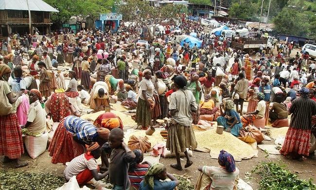 שוק טיפוסי בקונסו