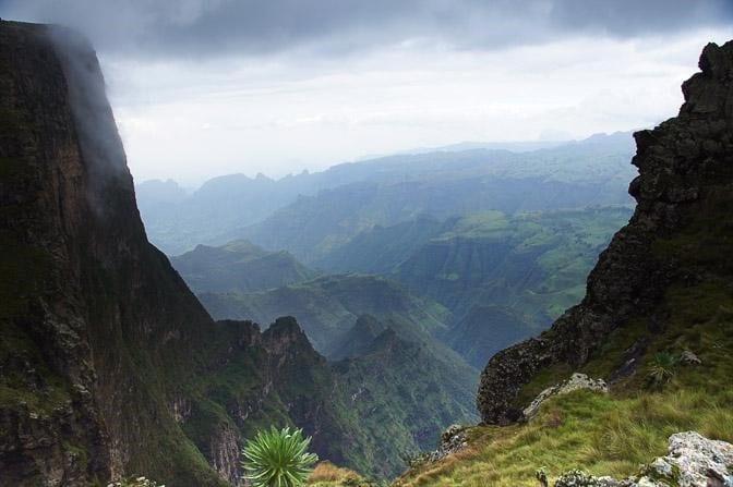 המצוקים האדירים של השבר הסורי-אפריקני במזרח אפריקה, הפארק הלאומי הרי סימֶן