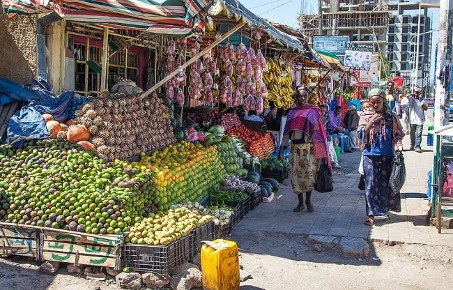 שוק הפירות - שוק מרקטו באדיס אבבבה