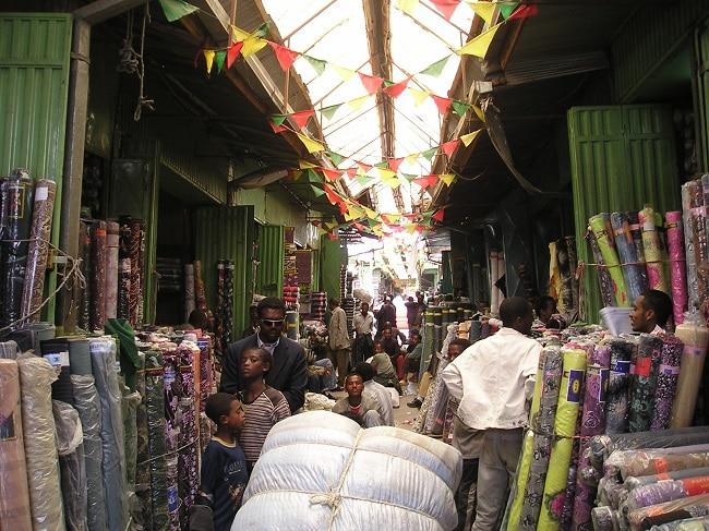 שוק השטיחים במרקטו אדיס אבבה