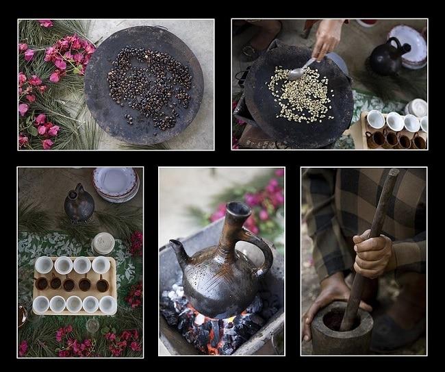 שלבי טקס הקפה האתיופי
