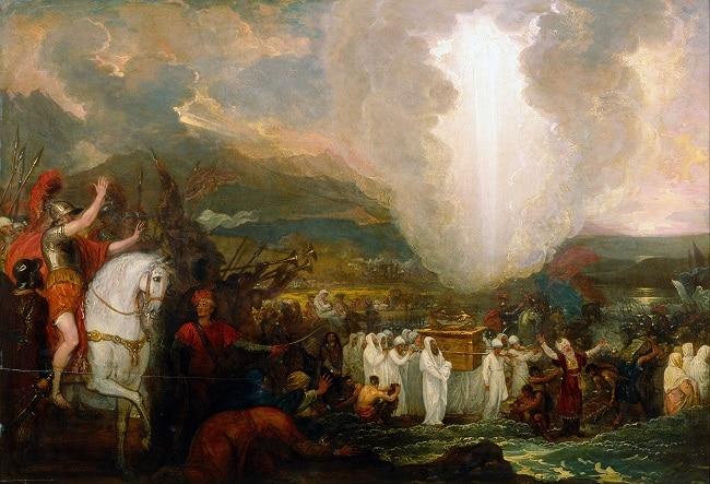 ציור של ארון הברית ובתוכו לוחות הברית