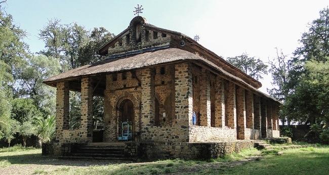 מבנה כנסיית דברה ברהאן סלאסי בגונדר