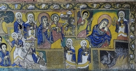 ציורים על קירות כנסיית אורה קידנה - עותק