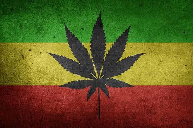 דגל אתיופיה עם מריחואנה