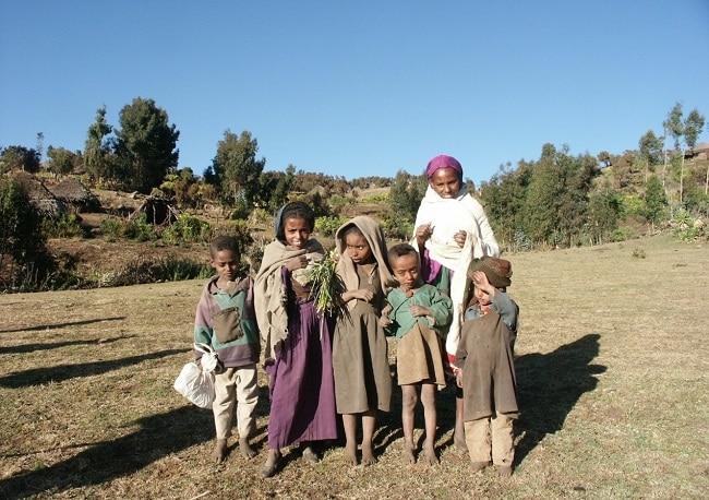 הכנסת אורחים בסגנון אתיופי בכפר גיץ'