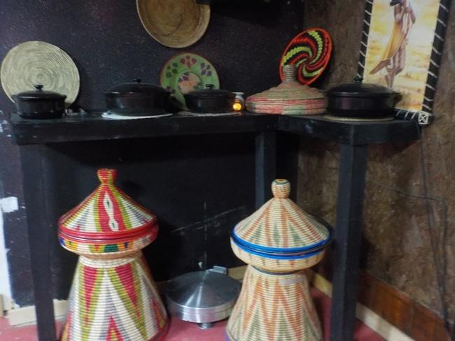 כלי אחסון במטבח האתיופי