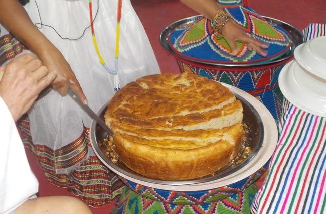 עוגה אתיופית מסורתית שעשויה מטף